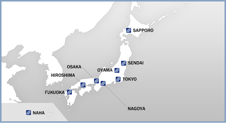Japan Data Centers TELEHOUSE SINGAPORE - Japan map center